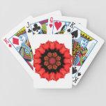 ¡Pizazz rojo de la flor! Baraja Cartas De Poker