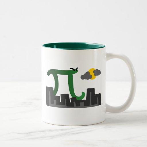 Pizilla Two-Tone Coffee Mug