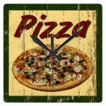 Pizza 1 reloj de pared