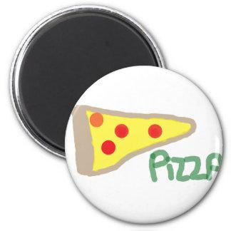 Pizza 2 Inch Round Magnet
