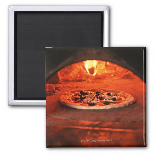 Pizza 2 Inch Square Magnet