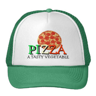Pizza A Tasty Vegetable Funny Quote Trucker Hat