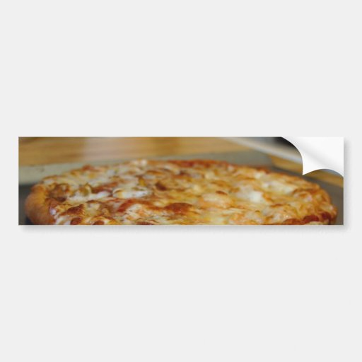 Pizza acabada pegatina de parachoque