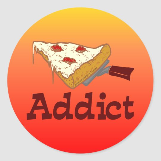 Pizza Addict Classic Round Sticker
