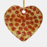 Pizza Adorno Navideño De Cerámica En Forma De Corazón