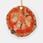 Pizza Adorno Navideño Redondo De Cerámica