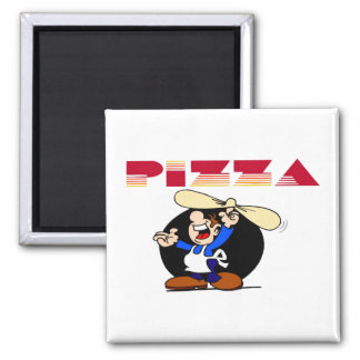 Pizza and Baker 2 Inch Square Magnet