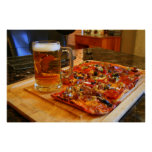 Pizza And Beer Poster