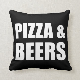 Pizza And Beers Throw Pillow