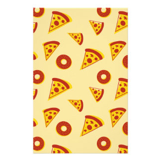 Pizza and donuts stationery