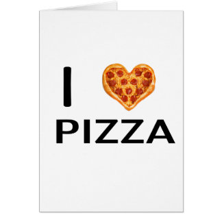 Pizza and love card