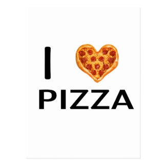 Pizza and love postcard