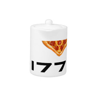 Pizza and love teapot