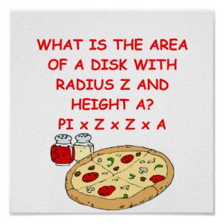 PIZZA and math Poster