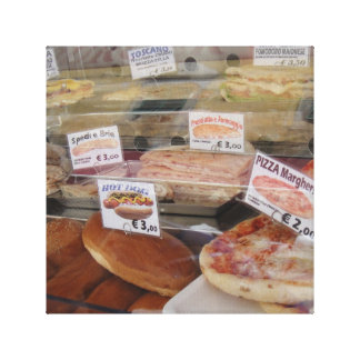 Pizza and panini picture canvas print