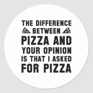 Pizza And Your Opinion Classic Round Sticker