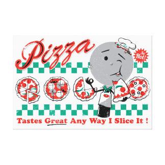 """Pizza Any Way I Slice It Retro Canvas — 2.5"""" thick Canvas Print"""