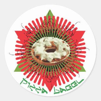 Pizza Bagel : Jewish Italian Classic Round Sticker