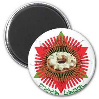 Pizza Bagel : Jewish Italian Fridge Magnet