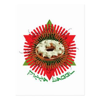 Pizza Bagel : Jewish Italian Post Card