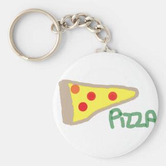 Pizza Basic Round Button Keychain