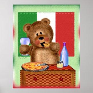Pizza Bear print