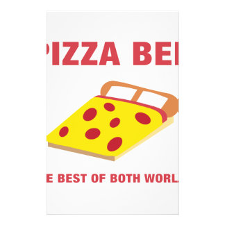 Pizza Bed Stationery