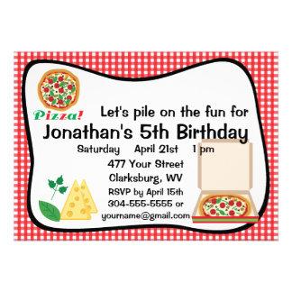 Pizza Birthday Party Custom Invites
