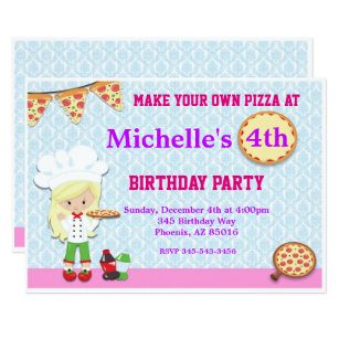 pizza party invitations zazzle