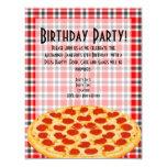 Pizza Birthday Party Invitation, Tablecloth Design