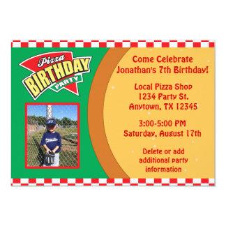 Pizza Birthday Party Invitation with Photo