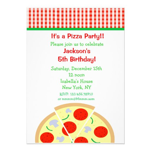 Pizza Party Invitation as nice invitations layout