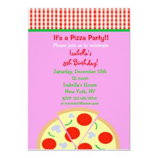 Pizza Birthday Party Invitations