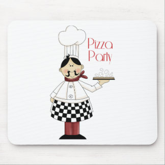 Pizza Birthday Party Mouse Mats