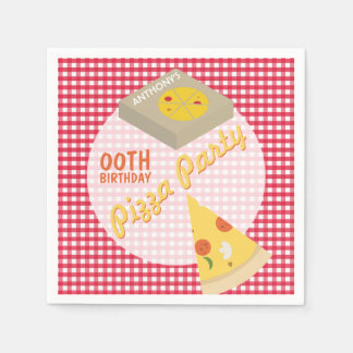 Pizza Birthday Party Paper Napkin