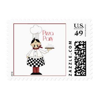 Pizza Birthday Party Postage
