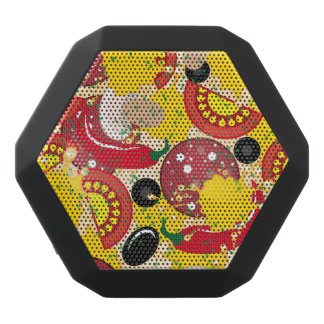 Pizza Black Bluetooth Speaker