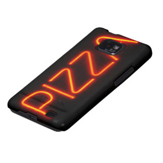PIZZA Blue & Red Neon Sign Galaxy S2 Covers