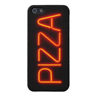 PIZZA Blue & Red Neon Sign Cover For iPhone SE/5/5s