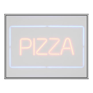 PIZZA Blue & Red Neon Sign Flyers