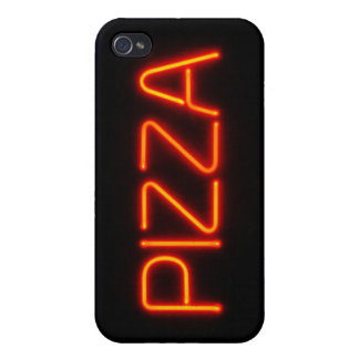 PIZZA Blue Red Neon Sign iPhone 4/4S Case