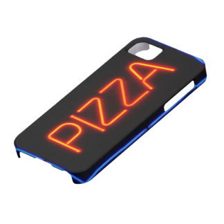 PIZZA Blue & Red Neon Sign iPhone SE/5/5s Case