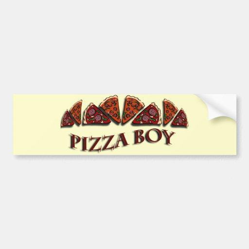 Pizza Boy Car Bumper Sticker