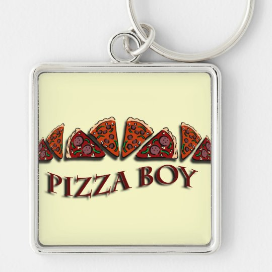 Pizza Boy Keychain