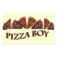 Pizza Boy Rectangle Sticker