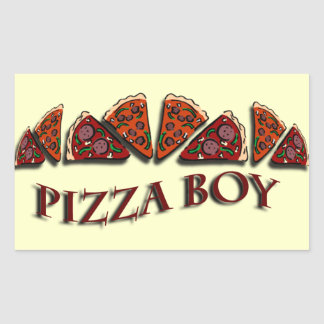 Pizza Boy Rectangular Sticker