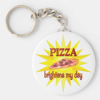 Pizza Brightens Key Chain