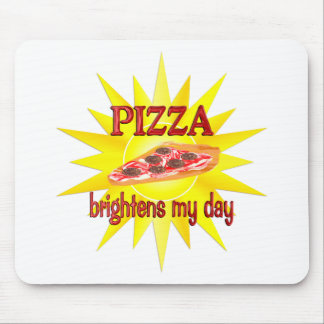 Pizza Brightens Mouse Pads