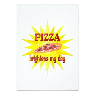 Pizza Brightens Personalized Invite