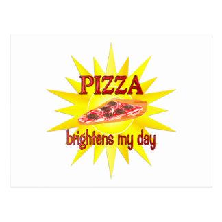 Pizza Brightens Post Card